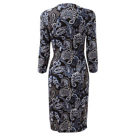 Buy East Paisley Jersey Wrap Dress, Black Online at johnlewis.com