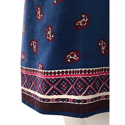 Buy East Nyla Corduroy Skirt, Deep Blue Online at johnlewis.com