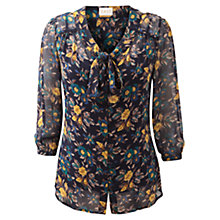 Buy East Paige Tie Front Print Blouse, Multi Online at johnlewis.com