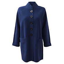 Buy East Funnel Wool Coat, Deep Blue Online at johnlewis.com