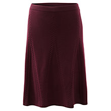 Buy East Merino Short Cable Skirt, Merlot Online at johnlewis.com