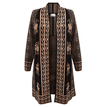 Buy East Jacquard Booti Cardigan, Black Online at johnlewis.com