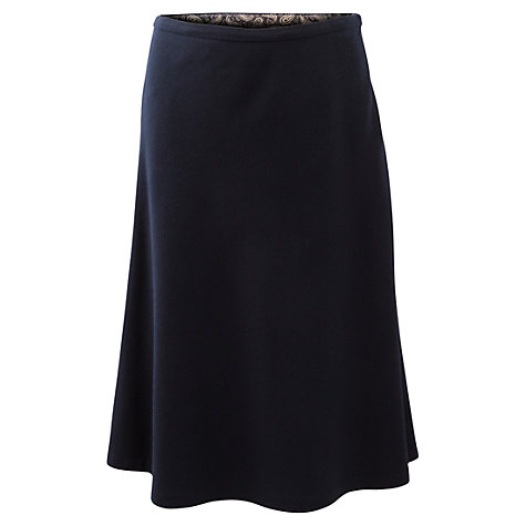 Buy East Wool Blend A Line Skirt, Navy Online at johnlewis.com