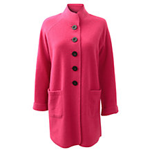 Buy East Funnel Wool Coat, Hot Pink Online at johnlewis.com