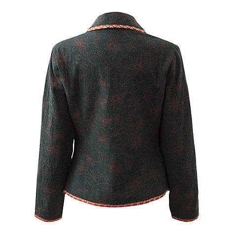 Buy East Blake Embroidered Jacket, Ivy Online at johnlewis.com