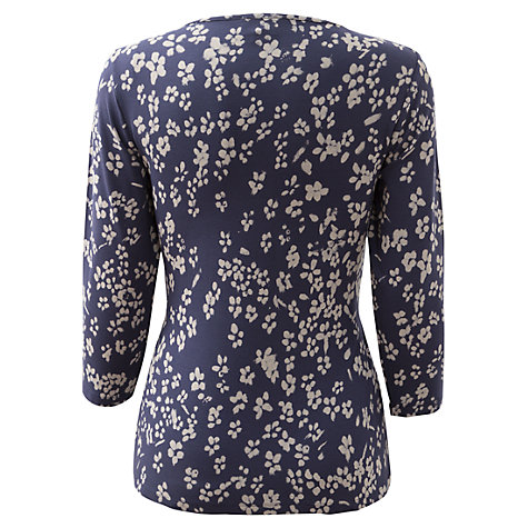 Buy East Jamie Twist Front Jersey Top, Navy Online at johnlewis.com