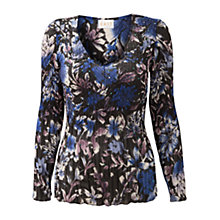 Buy East Corinna Sequinned Blouse, Black Online at johnlewis.com