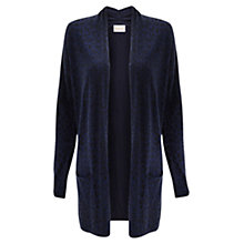 Buy East Animal Print Cardigan, Blue Online at johnlewis.com