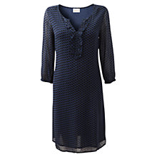 Buy East Betina Spot Dress, Deep Blue Online at johnlewis.com