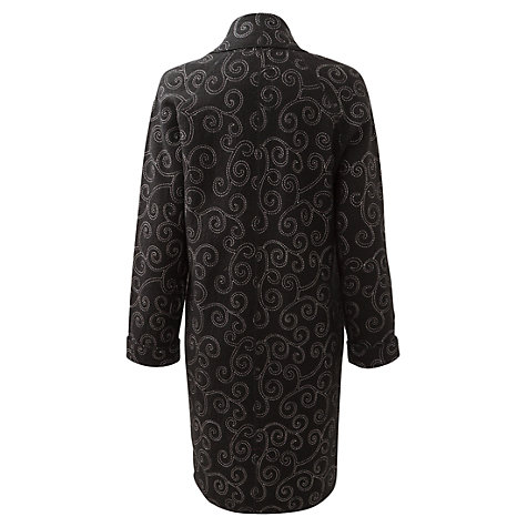Buy East Embroidered Wool Coat, Black Online at johnlewis.com