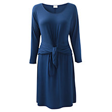 Buy East Arwen Knot Front Dress, Deep Blue Online at johnlewis.com