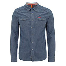 Buy Pepe Jeans Country Denim Shirt, Dark Blue Online at johnlewis.com