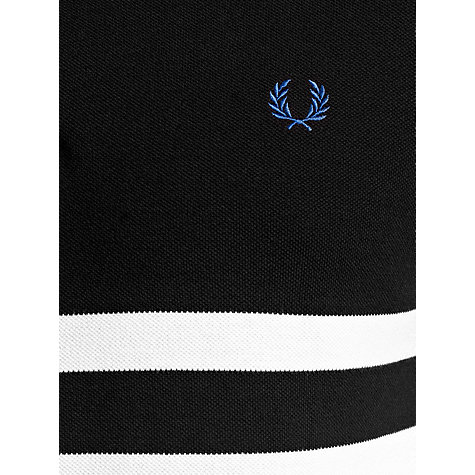 Buy Fred Perry Block Stripe Polo Shirt, Black/White Online at johnlewis.com