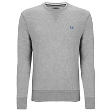 Buy Fred Perry Crew Neck Cotton Sweatshirt, Vintage Steel Online at johnlewis.com