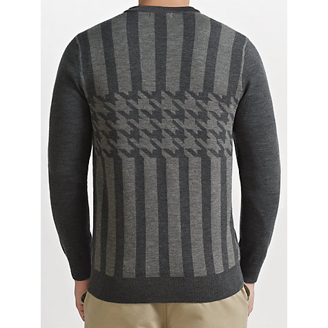 Buy Fred Perry Striped Wool Cardigan, Graphite Marl Online at johnlewis.com