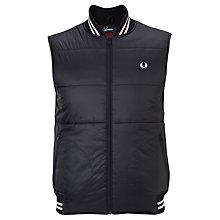 Buy Fred Perry Quilted Gilet, Navy Online at johnlewis.com