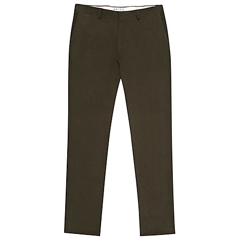 Buy Reiss Bellow Moleskin Trousers, Khaki Online at johnlewis.com