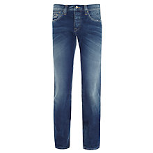 Buy Pepe Jeans Cane Slim Leg Jeans, Stone Wash Online at johnlewis.com