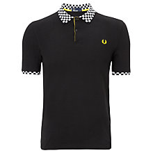 Buy Fred Perry Check Collar Polo Shirt Online at johnlewis.com