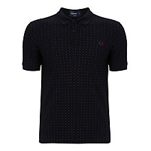 Buy Fred Perry Pin-dot Polo Top, Navy Online at johnlewis.com