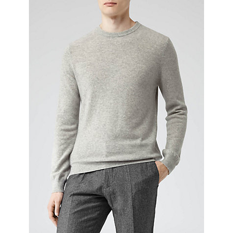 Buy Reiss Herald Pure Cashmere Jumper, Grey Mélange Online at johnlewis.com