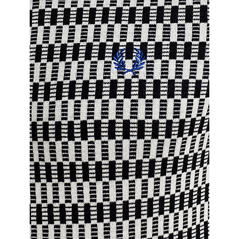 Buy Fred Perry Knitted Cotton Polo Shirt, Black/White Online at johnlewis.com