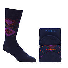 Buy Hugo Boss Argyle Socks, Pack of 2, Blue Online at johnlewis.com
