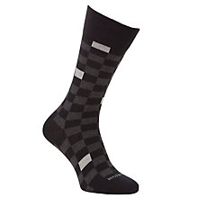 Buy BOSS Check Socks, Grey Online at johnlewis.com