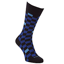 Buy BOSS Check Socks, Blue Online at johnlewis.com