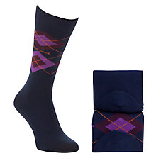 Buy Hugo Boss Argyle Socks, Pack of 2, Navy/Purple Online at johnlewis.com