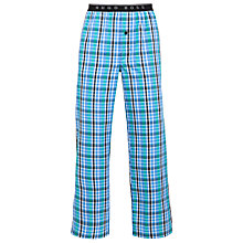 Buy BOSS Check Logo Waist Lounge Pants, Blue Online at johnlewis.com