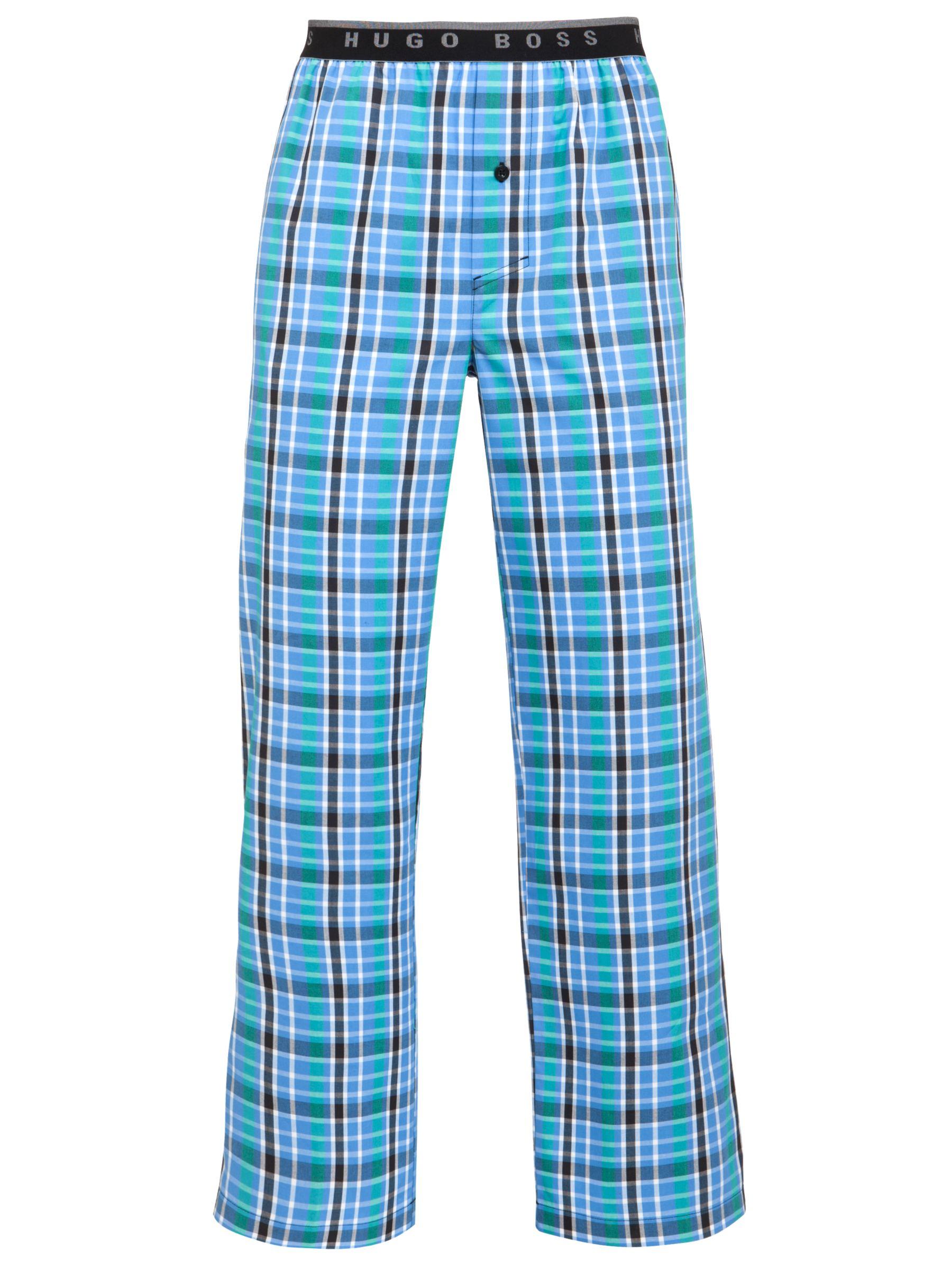 Hugo Boss Check Logo Waist Lounge Pants, Blue