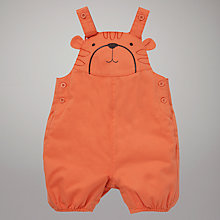 Buy John Lewis Baby Tiger Face Dungarees, Orange Online at johnlewis.com