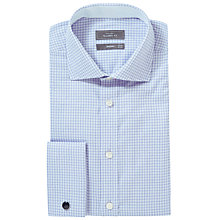 Buy John Lewis Luxury Grid Check Tailored Fit Long Sleeve Shirt with Cufflinks Online at johnlewis.com