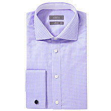 Buy John Lewis Luxury Grid Check Long Sleeve Shirt with Cufflinks Online at johnlewis.com