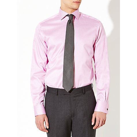 Buy John Lewis Luxury Twill Stripe Shirt with Cufflinks Online at johnlewis.com