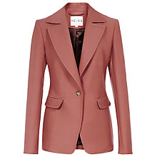 Buy Reiss Beckley Fitted Jacket, Berry Online at johnlewis.com