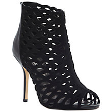 Buy Dune Havalta Suede Cut-Out Stiletto Heel Sandals, Black Online at johnlewis.com