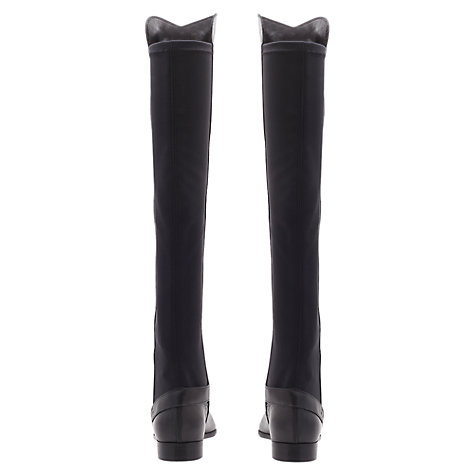 Buy Carvela Wood Knee Boots, Black Online at johnlewis.com