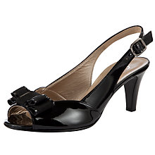 Buy Gabor Champ Patent Slingback Shoes, Black Online at johnlewis.com