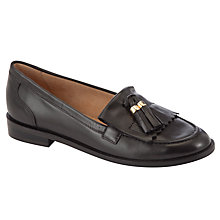 Buy John Lewis Yale Tassle Loafers, Black Online at johnlewis.com