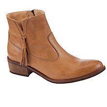 Buy John Lewis Princeton Tassle Ankle Boot, Tan Online at johnlewis.com
