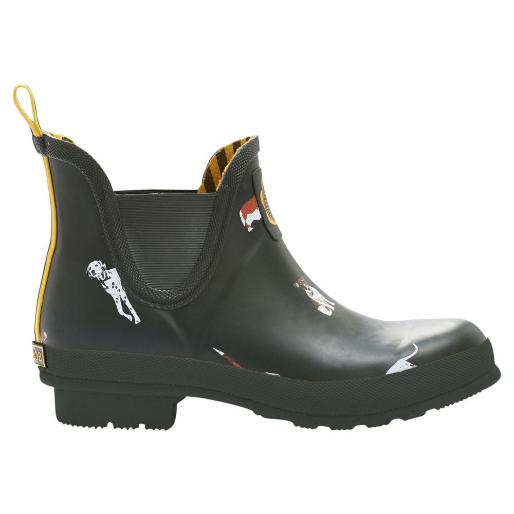 Joules Wellibob Short Wellington Boots, Green Dog