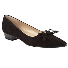 Buy Peter Kaiser Lizzie Court Shoes, Black Online at johnlewis.com