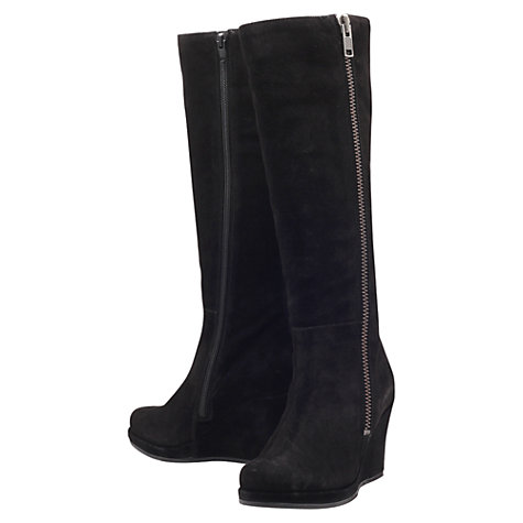 Buy Carvela Wonderful Knee Boots, Black Online at johnlewis.com
