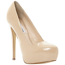 Buy Steve Madden Yasmin Platform Court Shoes, Nude Online at johnlewis.com