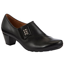Buy Gabor Aldred Leather Shoe Boots, Black Online at johnlewis.com