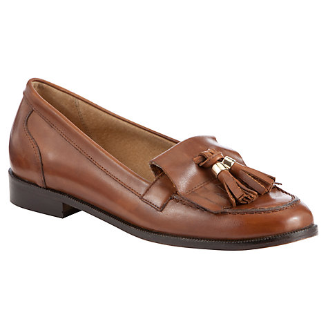 Buy John Lewis Yale Tassle Loafers, Tan Online at johnlewis.com