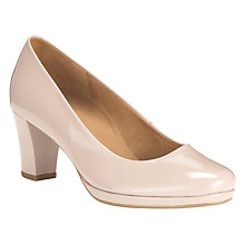 Buy Gabor Ella Patent Court Shoes, Nude Pink Online at johnlewis.com