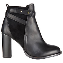 Buy Whistles Canter High Jodphur Ankle Boots, Black Online at johnlewis.com